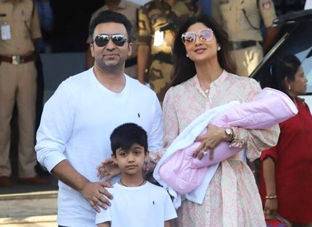 FIRST PIC: Shilpa Shetty and Raj Kundra get clicked with their daughter Samisha for the first time