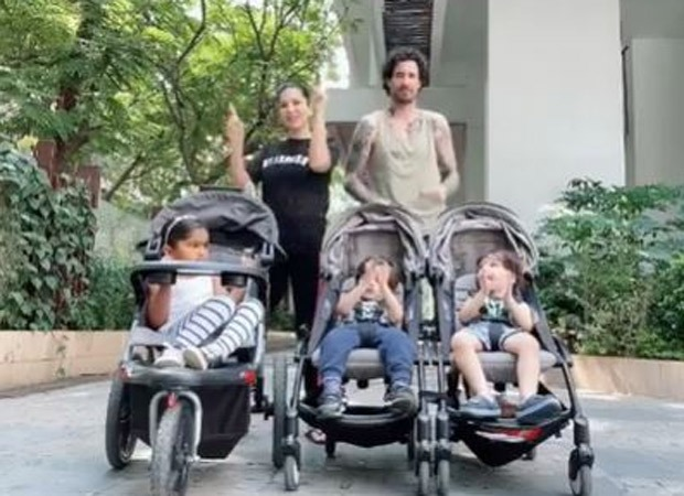 Watch: Sunny Leone and husband Daniel Weber put up a live dance performance to entertain their little ones