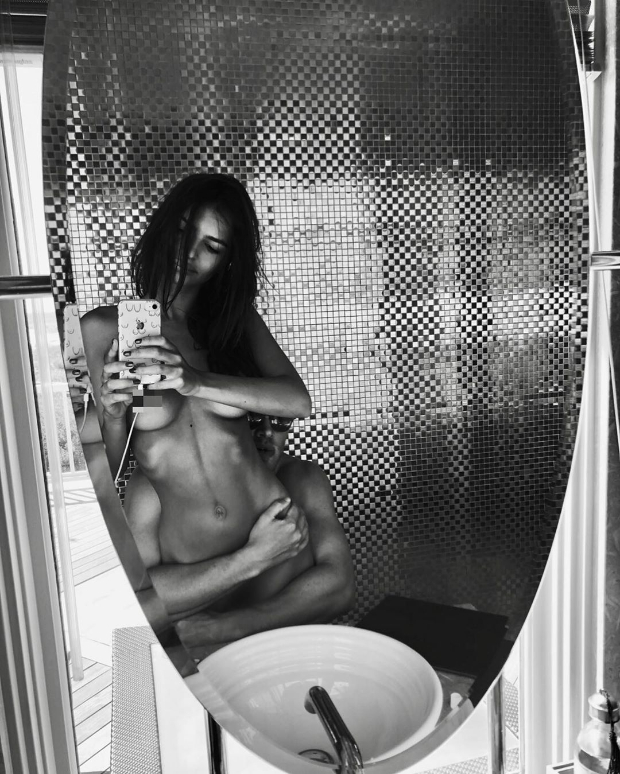 Emily Ratajkowski sets the internet on fire with her steamy nude selfie with husband Sebastian Bear-McClard