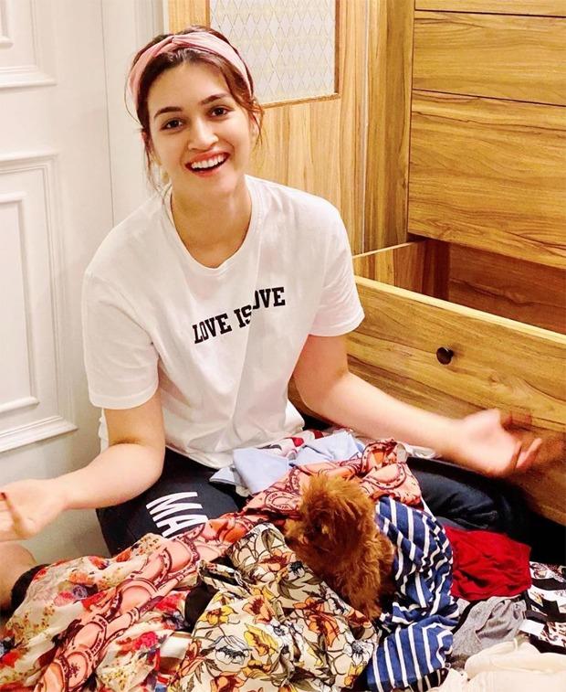 Kriti Sanon is busy decluttering her wardrobe amid nationwide lockdown