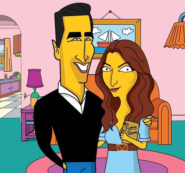 Meet Akshay Kumar and Twinkle Khanna as the characters of The Simpsons