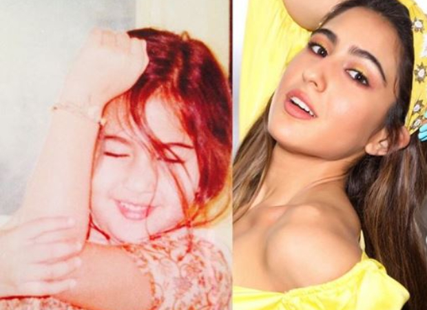 Sara Ali Khan shares a NOW and THEN picture; says she has been the same since childhood