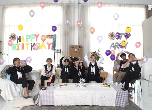 BTS recreates first birthday party relive their memories of past seven years and hope to ARMY soon