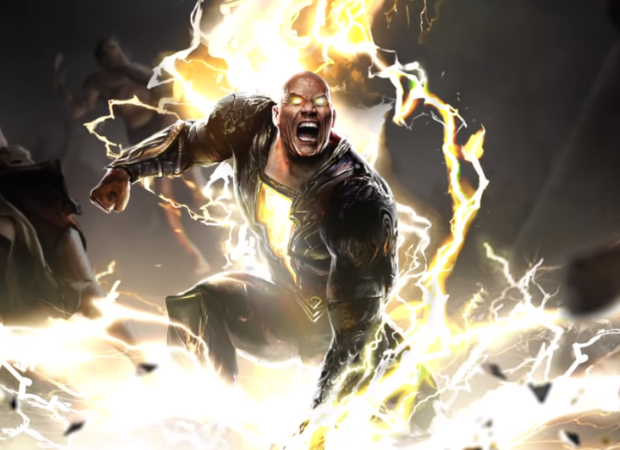 Dwayne Johnson S Black Adam Teases Showdown With Superman Introduces Justice Society Of America Featuring Doctor Fate Hawkman Cyclone And Atom Smasher Bollywood News Bollywood Hungama