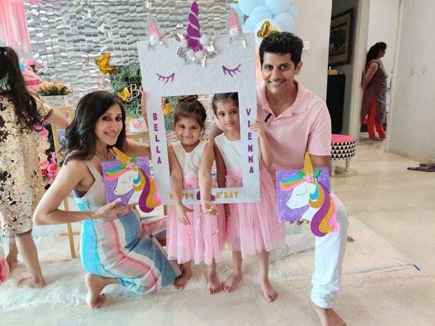 Karanvir Bohra's twins turn 4 in semi-lockdown