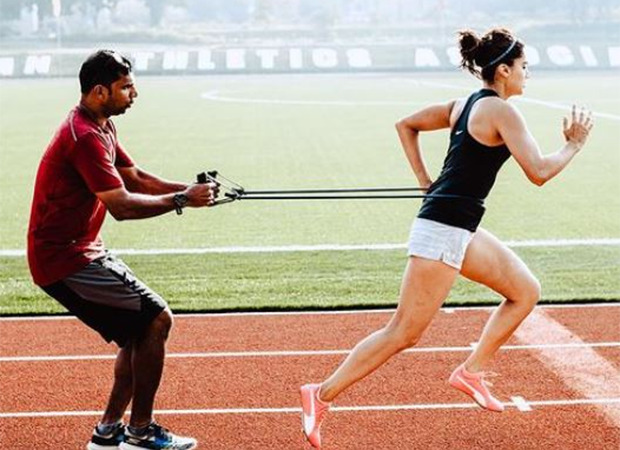 Taapsee Pannu shares glimpses from her intense training session on tracks for Rashmi Rocket