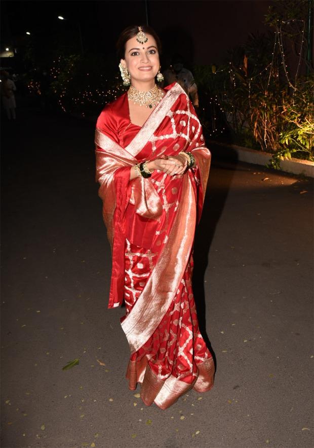 Dia Mirza's bridal Banarasi saree is the same one that Deepika Padukone wore during Diwali 2020 : Bollywood News - Bollywood Hungama