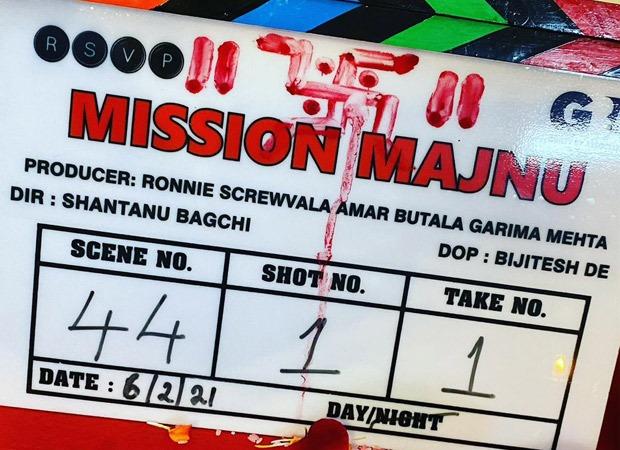 Sidharth Malhotra and Rashmika Mandanna starrer Mission Majnu commences shoot in Lucknow