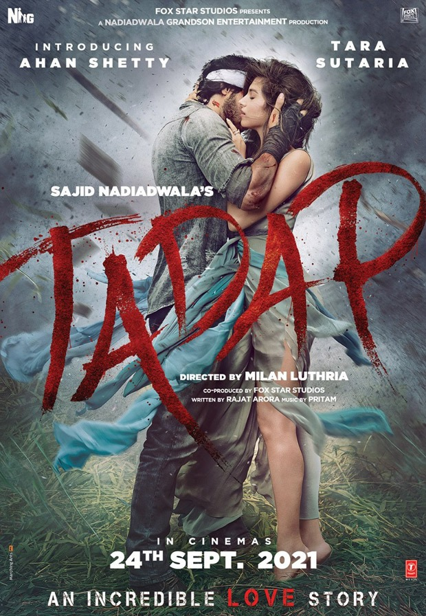 FIRST LOOK Ahan Shetty and Tara Sutaria starrer Tadap looks intense!