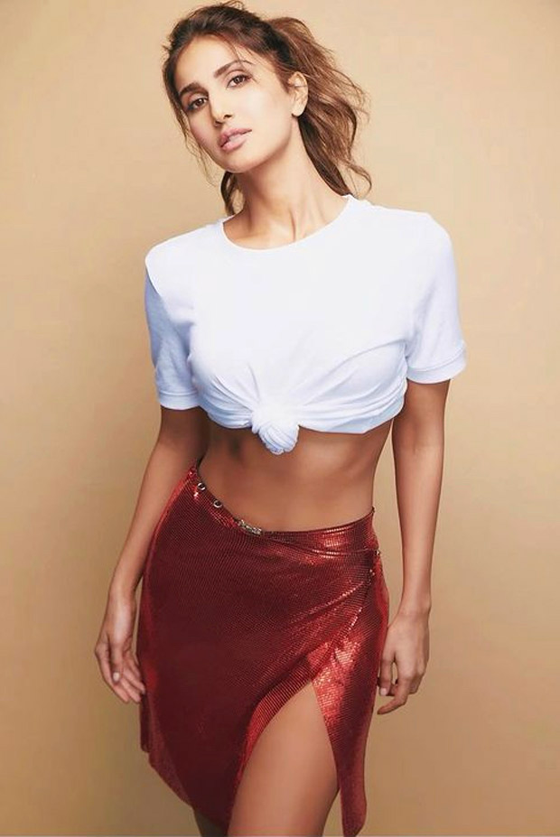 Vaani Kapoor pairs basic crop top with sequin mini skirt which is perfect for summer outing