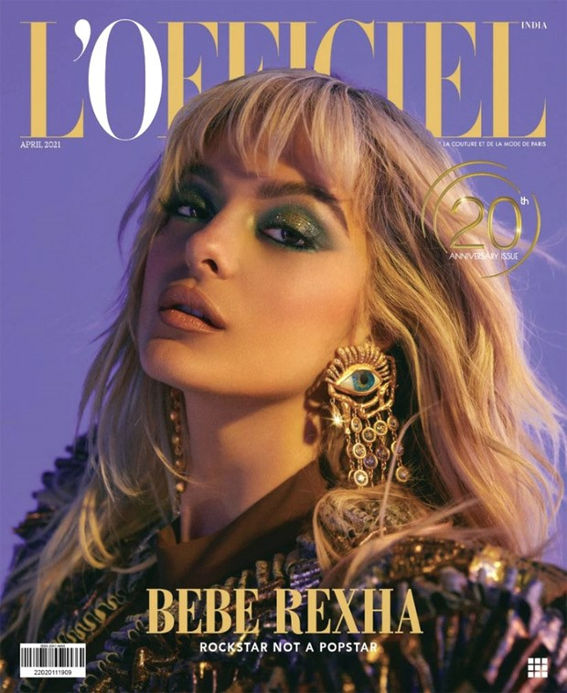 Bebe Rexha goes all glam on the cover of L'Officiel India's April 2021 collector's edition
