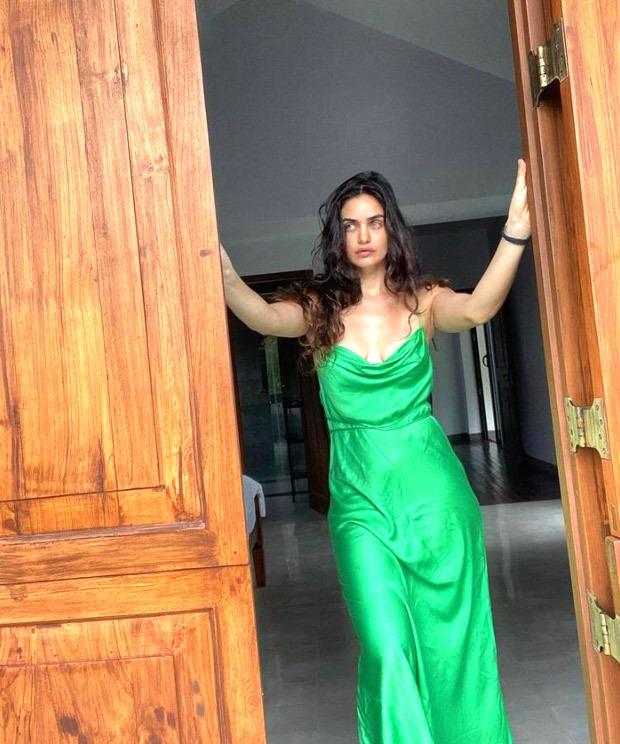 Gabriella Demetriades sizzles in satin dress will spruce up your summer wardrobe