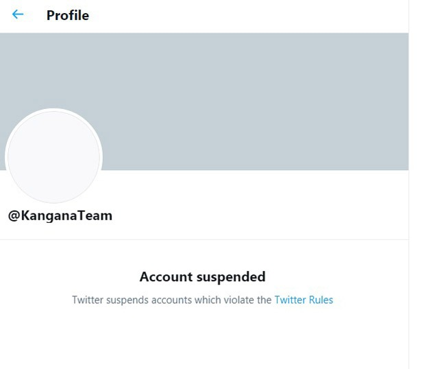 Kangana Ranaut's Twitter account suspended for violating rules