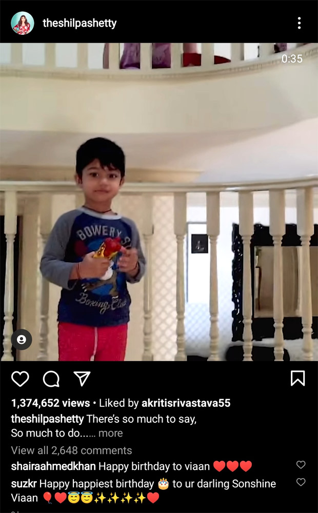Shilpa Shetty and Raj Kundra write a heartwarming note for their son Vivaan Kundra's 9th birthday