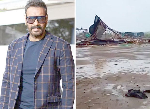 Sets of Ajay Devgn starrer Maidaan badly damaged by cyclone Tauktae
