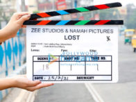 On the sets of the movie Lost