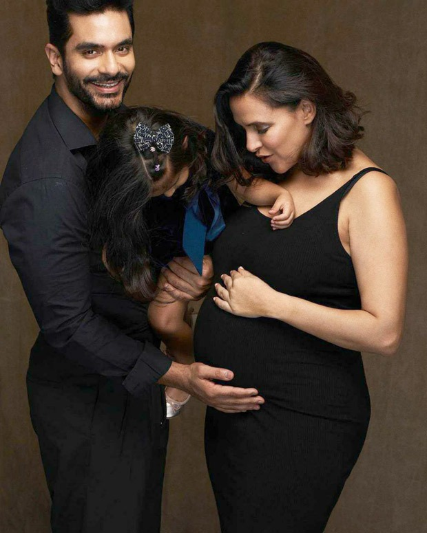 Neha Dhupia announces second pregnancy, shares family portrait with Angad Bedi and daughter Mehr