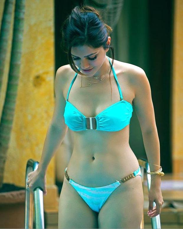 Rubina Dilaik looks mesmerizing in a blue bikini; says she is longing for a beach vacation