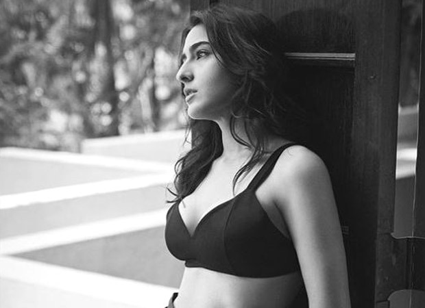 Sara Ali Khan poses in an all-black bralette and thigh-high slit skirt for her latest photoshoot