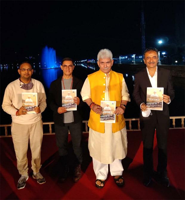 Aamir Khan, Rajkumar Hirani, Mahaveer Jain join Lt Governor of Jammu and Kashmir Manoj Sinha to launch new film policy; DETAILS inside