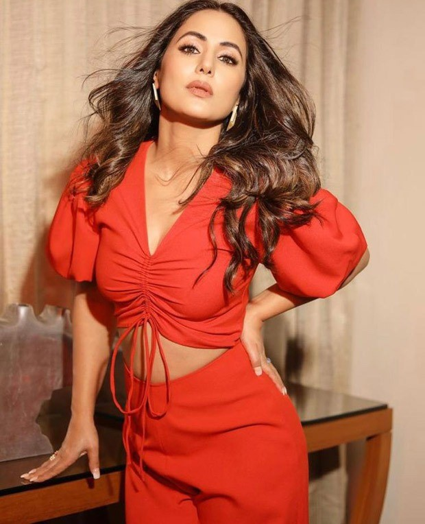 Hina Khan looks fiery in red jumpsuit with midriff cut-out worth Rs. 20,000