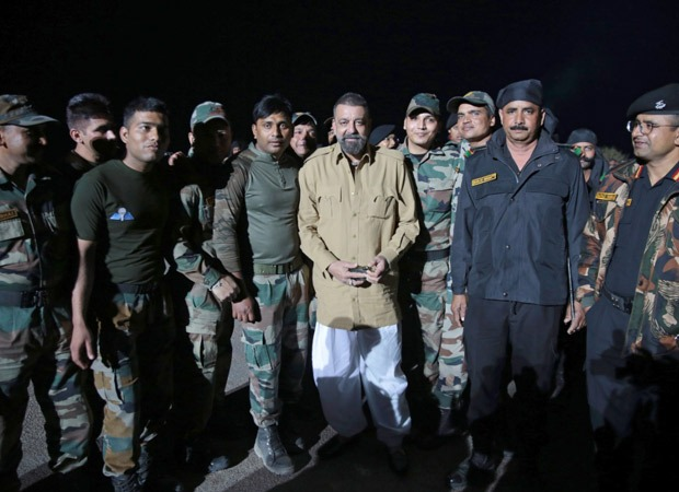 Actor Sanjay Dutt met jawaans from the Indian Army while shooting for the much-awaited movie Bhuj: The Pride Of India!