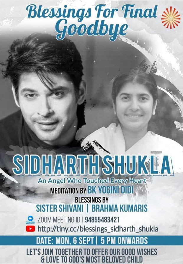 Late actor Sidharth Shukla's prayer meet to be held at 5 pm today
