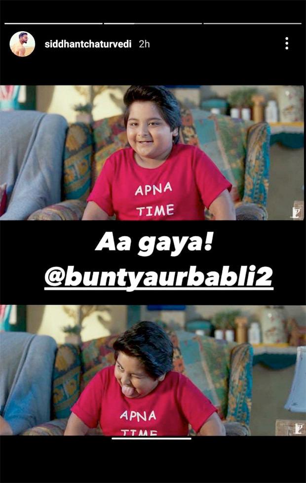 Siddhant Chaturvedi says 'Apna Time Aagaya' as Bunty Aur Babli 2 is nearing
